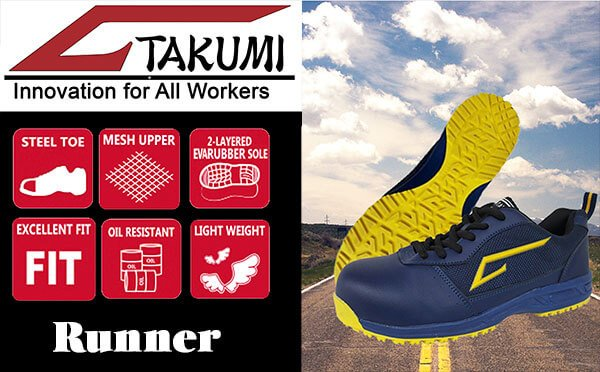 Takumi nhập công hàng mới, giày bảo hộ Runner chính thức có mặt tại Việt Nam